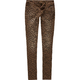 ALMOST FAMOUS Cheetah Print Womens Skinny Jeans