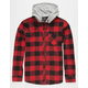 ROOK Bleached Mens Hooded Flannel Shirt