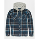 ELEMENT Stander Mens Hooded Flannel Shirt