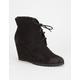 QUPID Tustin Womens Wedge Boots