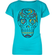 FULL TILT Banded Bottom Skull Girls Tee