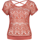 FULL TILT Open Back Lace Womens Top