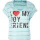 FULL TILT Stripe Love Boyfriend Womens Tee