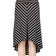 FULL TILT Stripe Girls Hi Low Skirt
