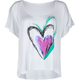 FULL TILT Heart Womens Boxy Tee