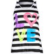 FULL TILT Neon Love Girls Tank