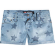SCISSOR Printed Roll Cuff Girls Denim Shorts