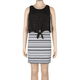 FULL TILT Stripe/Crochet Two Piece Girls Bodycon Dress