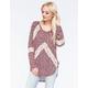 BLU PEPPER Lace Inset Womens Sweater