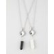 FULL TILT 2 Piece Yin Yang/Crystal Necklace