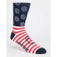 SPITFIRE Flag Striped Mens Crew Socks