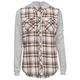 FULL TILT Girls Hooded Flannel Shirt
