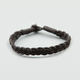 BLUE CROWN Braided Faux Leather Bracelet