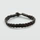 BLUE CROWN Braided Faux Leather Bracelet