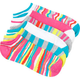 6 Pack Zig Zag Stripe No Show Womens Socks