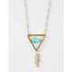 FULL TILT Triangle Leaf Drop Necklace