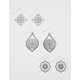 FULL TILT 3 Piece Filigree Stamped Earrings