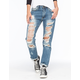 MACHINE Destroyed Womens Boyfriend Jeans