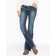 ZCO Cross Flap Pocket Womens Bootcut Jeans