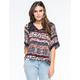 FULL TILT Ethnic Floral Womens Peasant Top