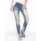 MACHINE Destroyed Womens Skinny Jeans