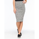 LILY WHITE Space Dye Womens Midi Skirt