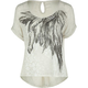 DESTINED Feathers Womens Lace Back Top