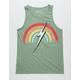 LIGHTNING BOLT Rainbow Mens Pocket Tank
