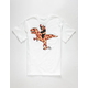 RIOT SOCIETY T Rex Pizza Boys T-Shirt