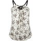 FULL TILT Floral Ribbon Womens Tank