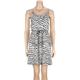 FULL TILT Zebra Womens Pocket Tank Dress