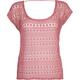 FULL TILT Crochet Womens Boxy Top