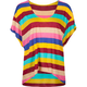 FULL TILT Stripe Womens Hi Low Tee