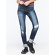 FLYING MONKEY Sky Destructed Womens Skinny Jeans