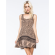 ANGIE Printed Knit Skater Dress