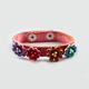 Multi Flower Faux Leather Snap Bracelet
