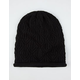 Rolled Edge Open Knit Beanie