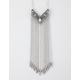 FULL TILT Fringe Chevron Pendant Necklace