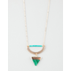 FULL TILT Scalloped Crescent Triangle Necklace
