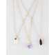 FULL TILT3 Piece Semi Precious Stone Necklaces