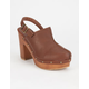 BAMBOO Wilson Back Strap Womens Clogs