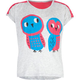 FULL TILT Owl Lovers Girls Mesh Trim Tee