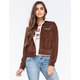 OTHERS FOLLOW Corduroy Faux Shearling Womens Jacket