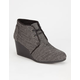 TOMS Herringbone Womens Desert Wedges