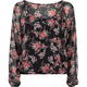 FULL TILT Floral Chiffon Womens Peasant Top