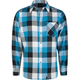 STRAIGHT FADED Tri Check Mens Flannel Shirt