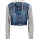 HIGHWAY Fleece Sleeve Womens Denim Jacket