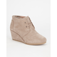 TOMS Suede Womens Desert Wedges