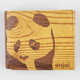 ENJOI Wood Panda Wallet