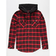KEY STREET Aspen Mens Hooded Flannel Shirt